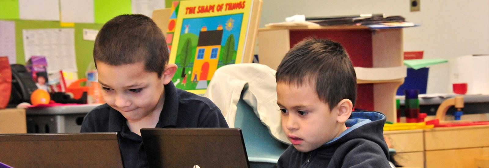Our project-based learning incorporates technology even in the early grades.